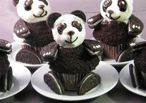 Sladký koutek (zajímavé nápady na cuppycakes, nezvyklé dorty, macarons atd. nejen na svatbu) - Pandy