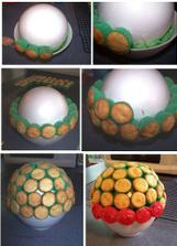 Jak udělat cuppycakovou dekoraci - kytici (v albu Jídlo je strom)