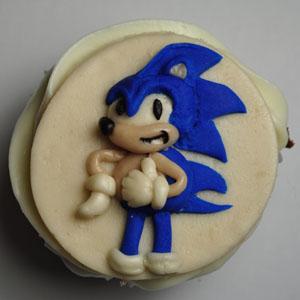 Sladký koutek (zajímavé nápady na cuppycakes, nezvyklé dorty, macarons atd. nejen na svatbu) - sonic the hedgehog