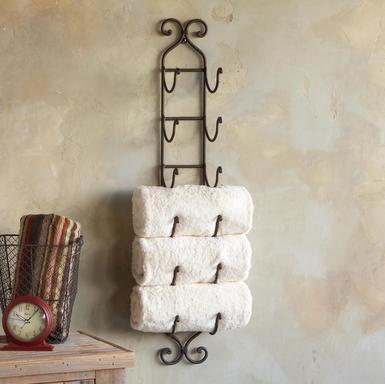 Chytré nápady - Držák na ručníky (držák na víno)