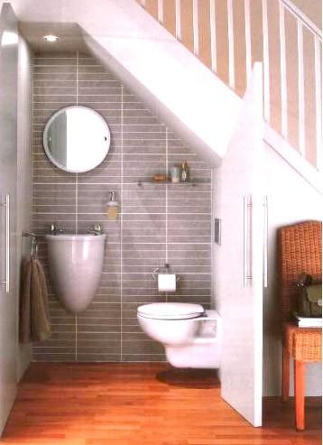 Chytré nápady - WC pod schodama