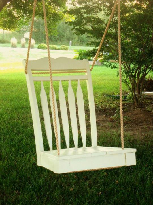 Chytré nápady - houpačka ze židle