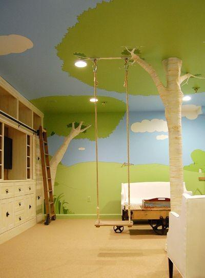 Chytré nápady - houpačka na větvi