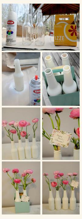 Chytré nápady - vázy z lahví