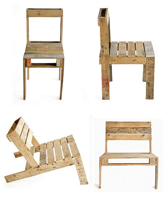 Chytré nápady - židle z palety