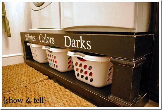 Chytré nápady - Třídit prádlo již při odkládání do prádelního koše, ne až před praním (bílé, barevné, tmavé)