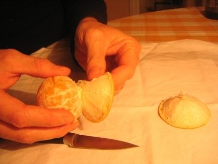 MANDARINKOVÉ SVÍČKY - jen z mandarinek a trochy olivového oleje, netřeba žádný vosk ani knot! Blbuvzdorný fotonávod v tomto albu :-) - i