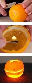 MANDARINKOVÉ SVÍČKY - jen z mandarinek a trochy olivového oleje, netřeba žádný vosk ani knot! Blbuvzdorný fotonávod v tomto albu :-) - aneb jak málo stačí ke štěstí :-)