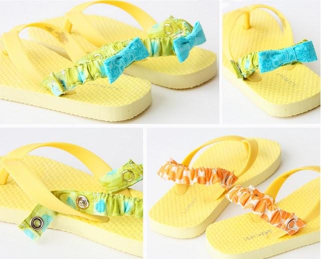 Chytré nápady - NÁVOD Přidejte odnímatelný popruh na patu - návod http://www.makeit-loveit.com/2011/04/interchangeable-flip-flop-back-straps.html