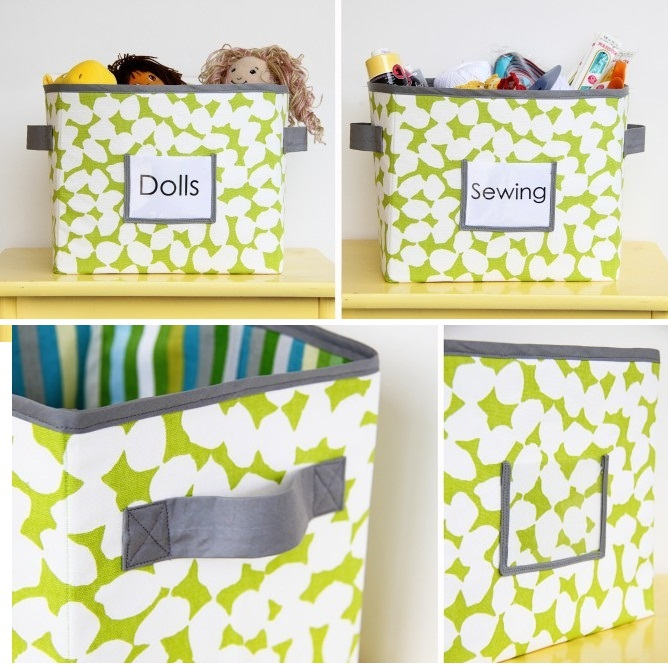 Chytré nápady - Jednoduchý NÁVOD na ušití http://www.makeit-loveit.com/2011/09/fabric-storage-boxes-per-your-request.html