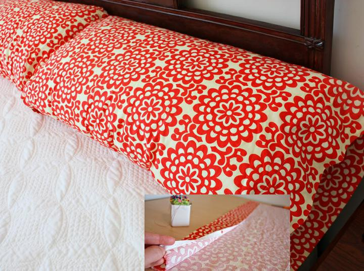 Chytré nápady - NÁVOD polštář z 1 kusu látky podle vlastního vkusu! http://www.makeit-loveit.com/2010/01/decorate-my-home-part-7-basic-pillow.html