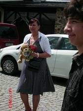moje maminka :-)...celý den hlídala našeho Ondráška :-) byla úžasná