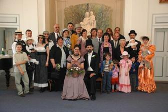 Marie Terezie se svou rodinou