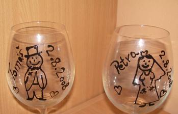 ...pro Haničku:-)...naše skleničky  (samovýroba)
