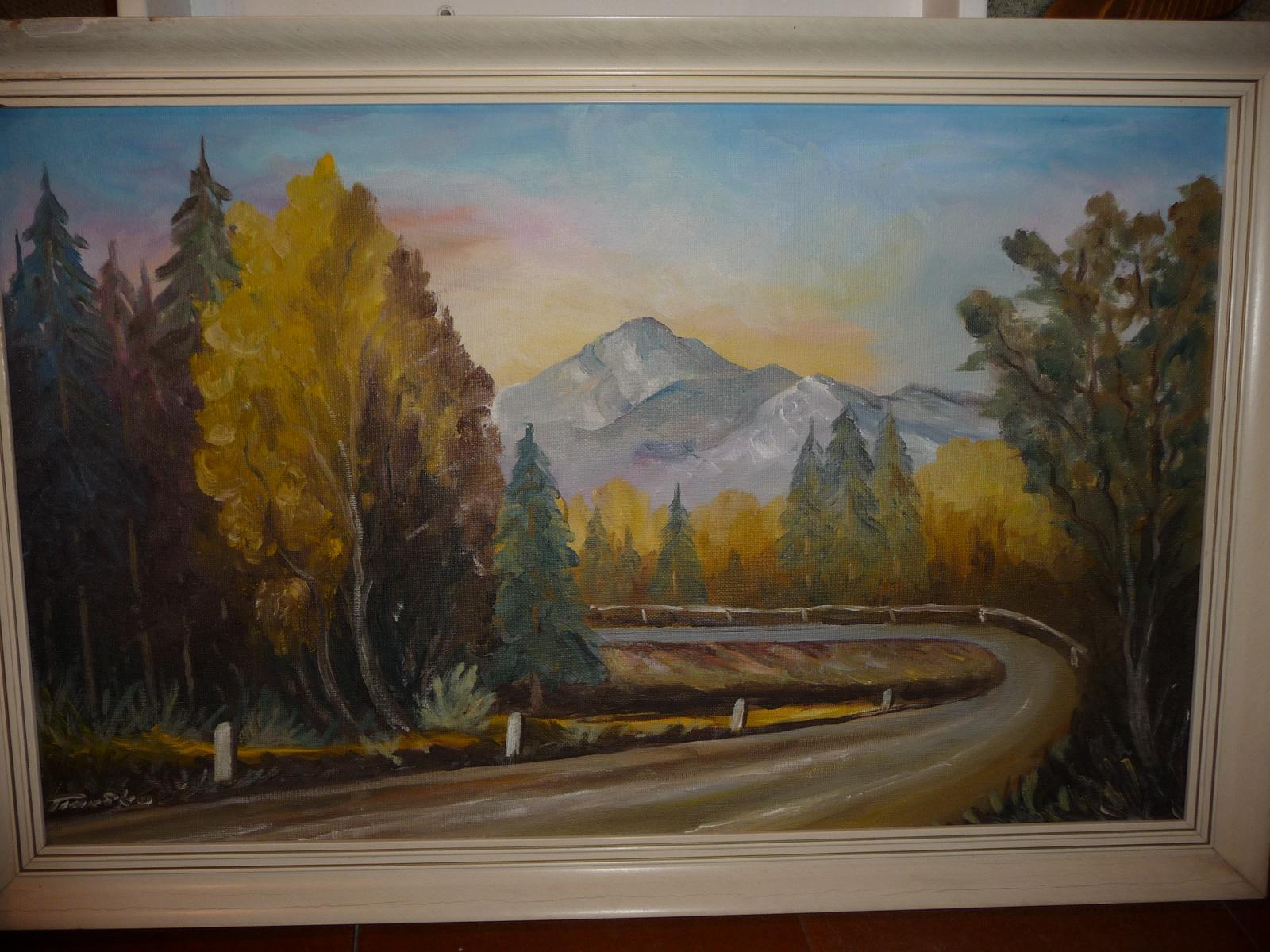 Veľký obraz maľovaný - Obrázok č. 1