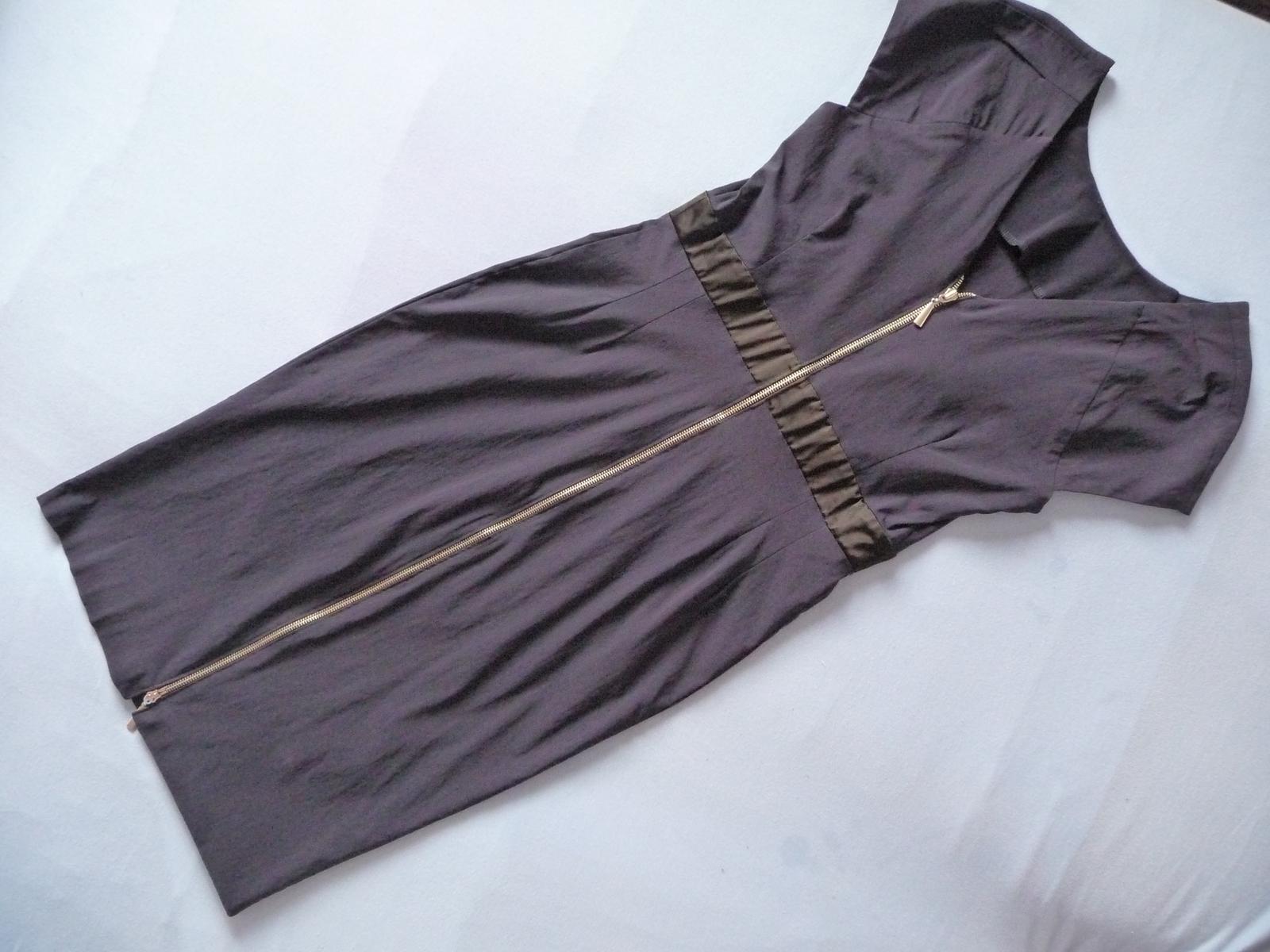 Tmavo modré šaty S/M - Obrázok č. 2