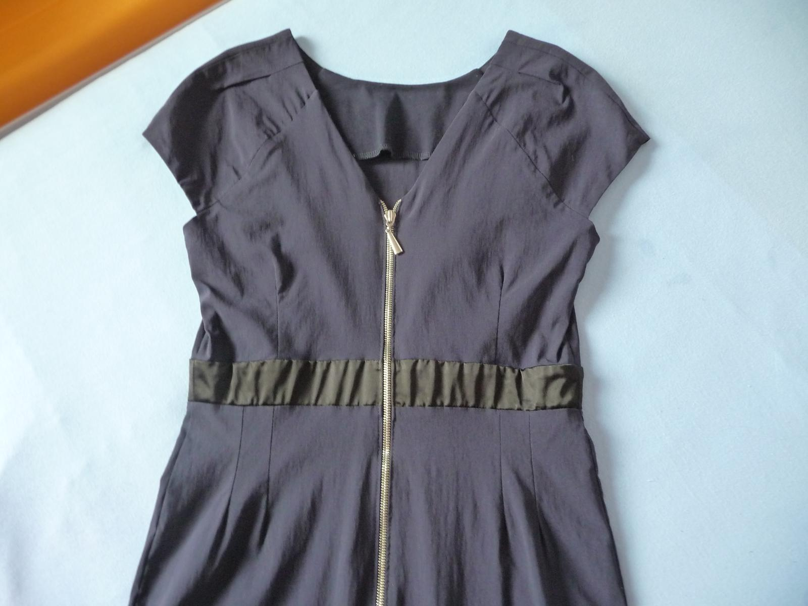Tmavo modré šaty S/M - Obrázok č. 3