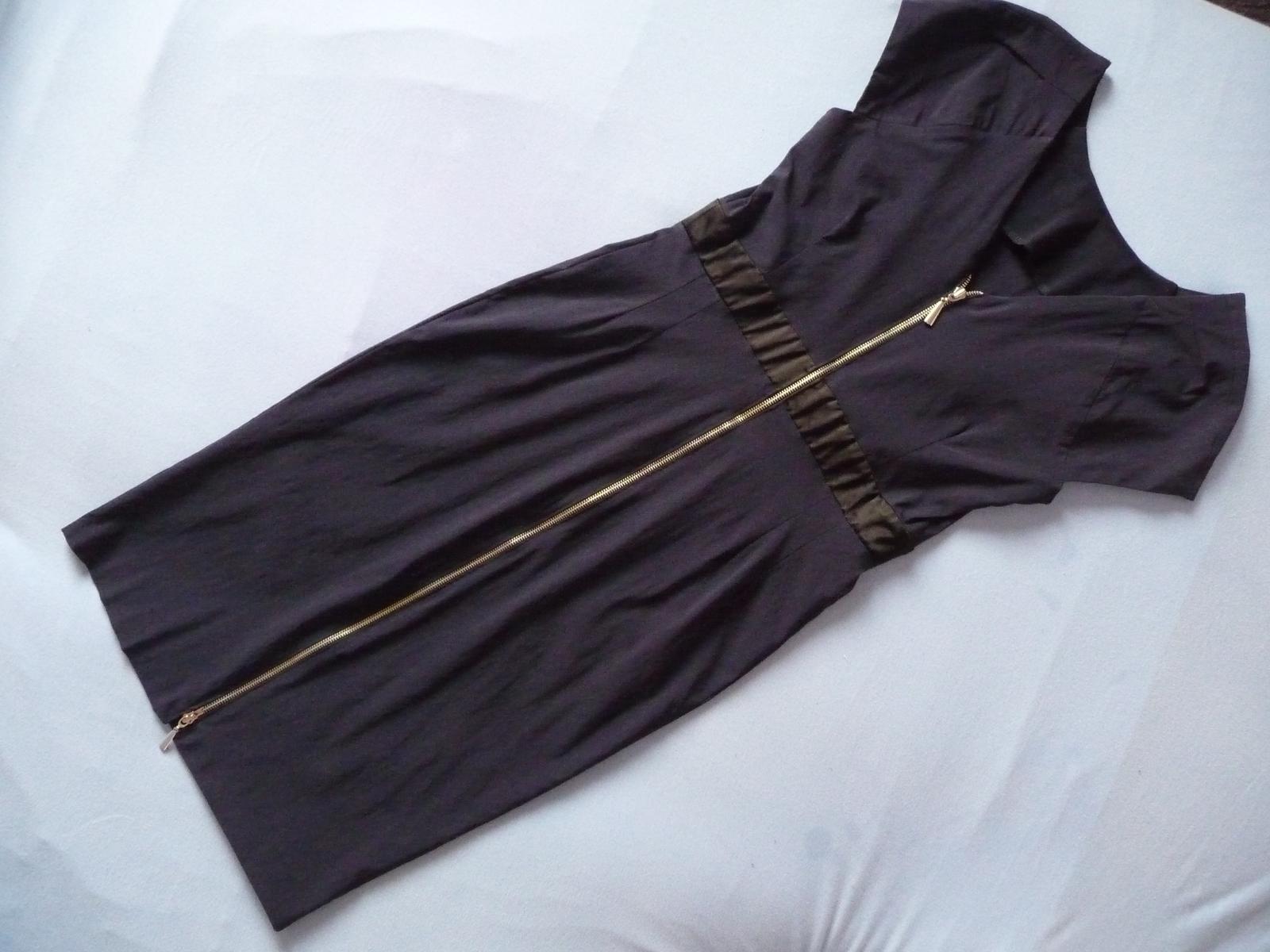 Tmavo modré šaty S/M - Obrázok č. 1