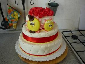 náš nádherný a výborný svatební dort od Péti