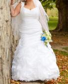 Svadobné šaty - voskové ruže, 42