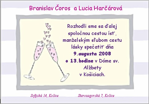 Lucia a Braňo - také ?
