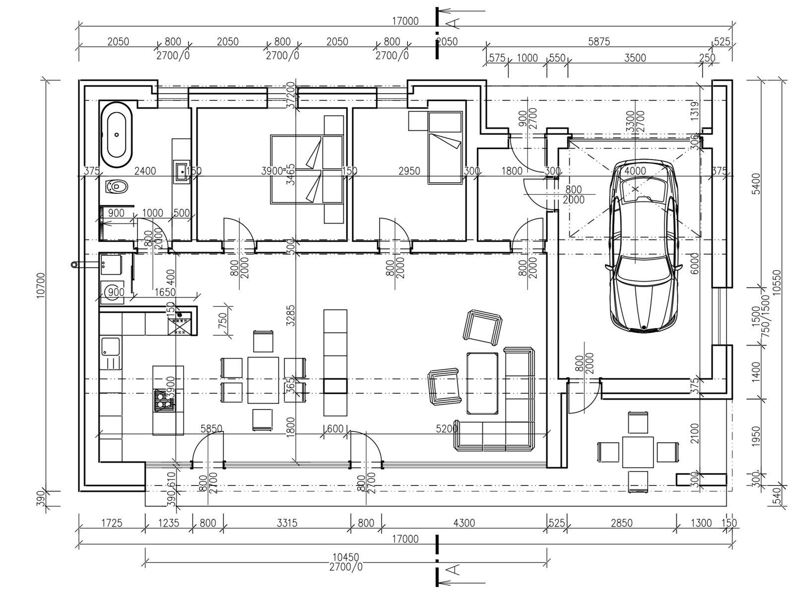 Dom vizualizacia - Konečná podoba pôdorysu