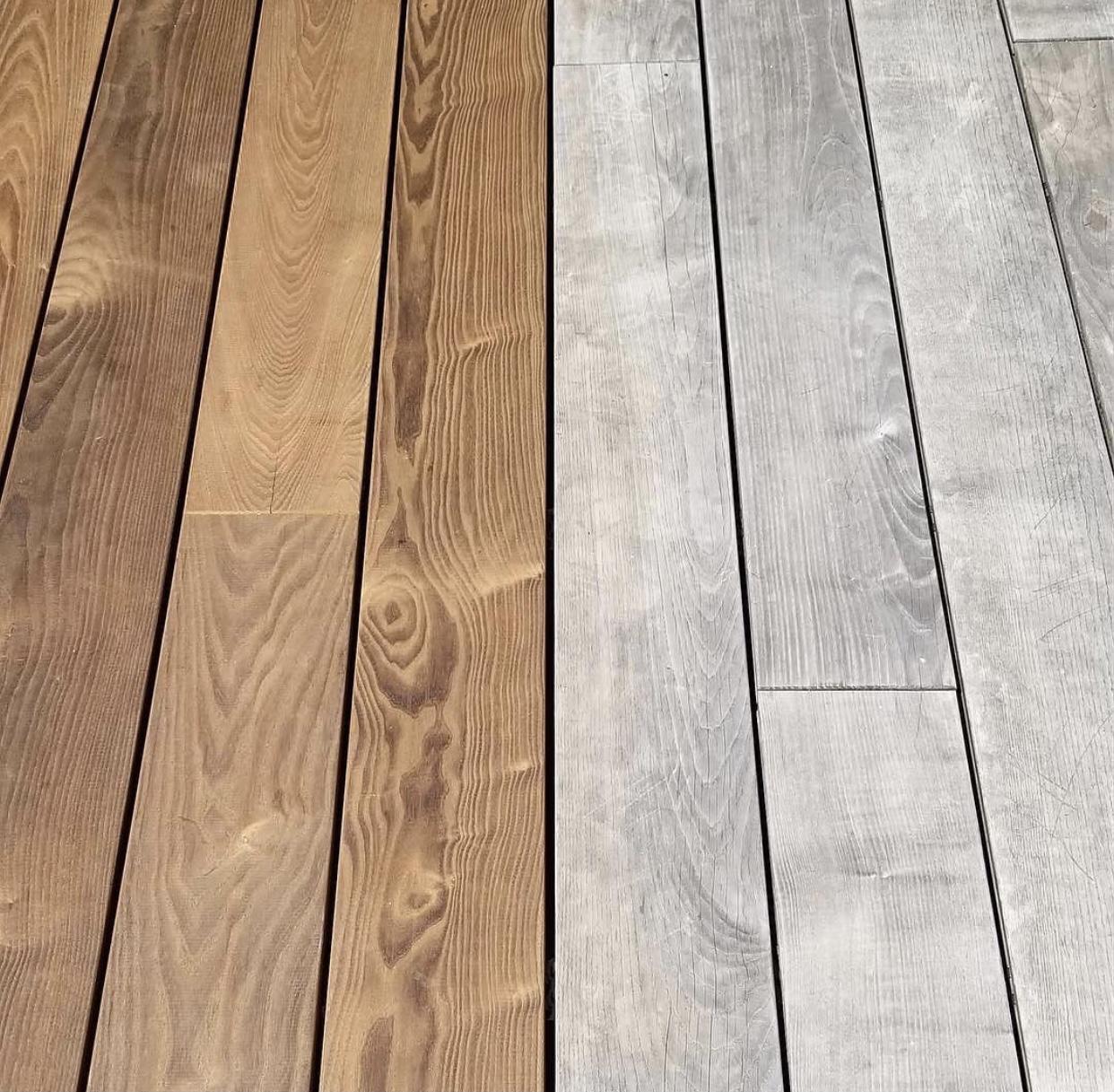 Metamorfóza terasy | - Patina na dreve, ktoré sa neošetrí (cca asi po roku až 2 rokoch)