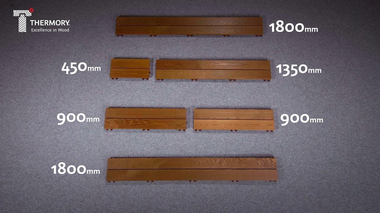 Metamorfóza terasy | - Jeden set QuickDeck Maxi obsahuje takéto rozmery dosiek, z ktorých sa dá bez rezania vyskladať akákoľvek terasa. Celková výška podlahy je 31 mm