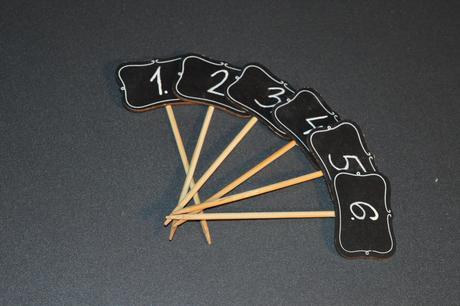 Zapichovacie tabuľky s číslami 1-6 - Obrázok č. 1