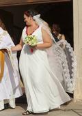 XL-XXL Svadobné šaty /spoločenské šaty pre moletky, 48