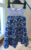 bavlněné slavnostní dívčí šaty s potiskem , 98