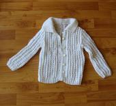 pletený svetr- bílý, 92