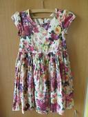 slavnostní barevné květované šaty z HM 116/122, 116