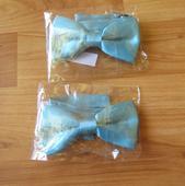 2x nenošený modrý chlapecký motýlek,
