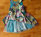 zelené slavnostní šaty - dívčí, 116