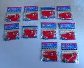 vodní, gelové perly - červené 10 balení,