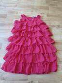 červené volánkové šaty HM, 134