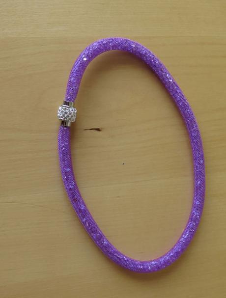 fialový kamínkový náhrdelník - Obrázek č. 1