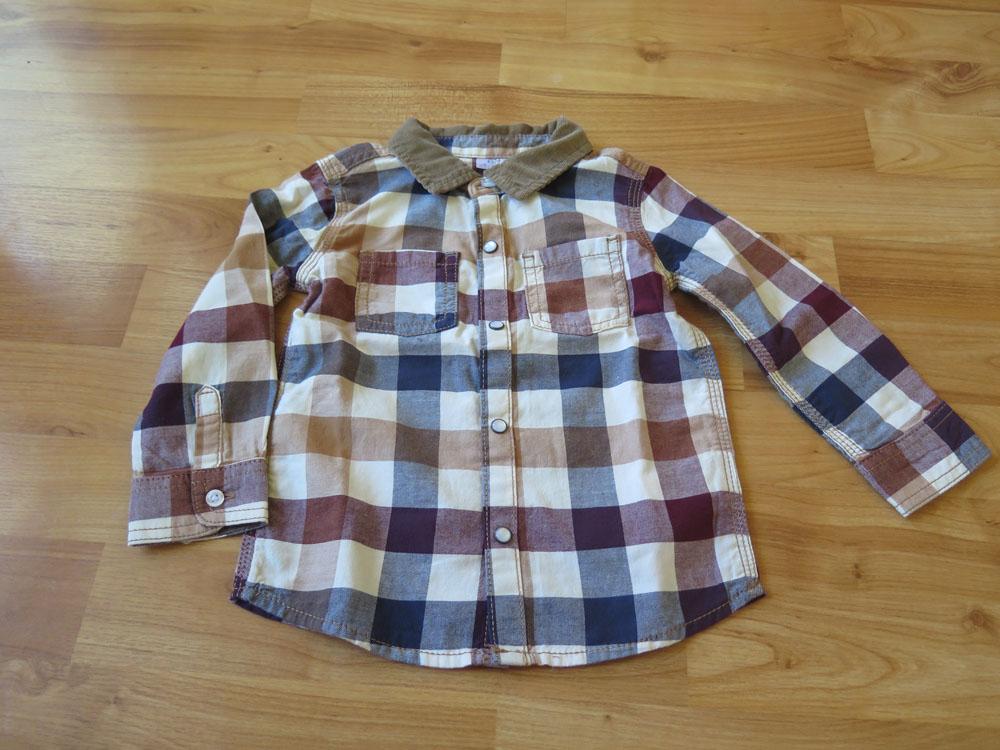 nenošená chlapecká košile- káro - Obrázek č. 1