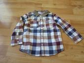 nenošená chlapecká košile- káro, 86