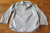 nenošená blankytná košile- proužek HM 104/110, 104
