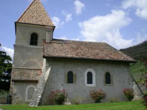 zahrada s kostolom