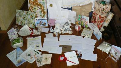 a rozbalování svatebních darů ;)