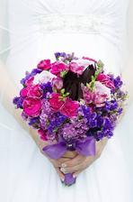 moje vysněná kytice, kterou jsem si vázala sama