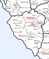 mapa plzeňska
