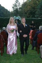 Naša 1 družička a manželov svedok Miško :-)