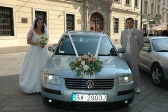 Svadobné autko.