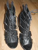 čierne sexi sandálky, 38