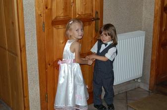 krstňa Emka a náš Adriánko