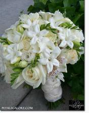 aj toto je veľmi pekná svadobná kytička...to ak nebudú tulipány